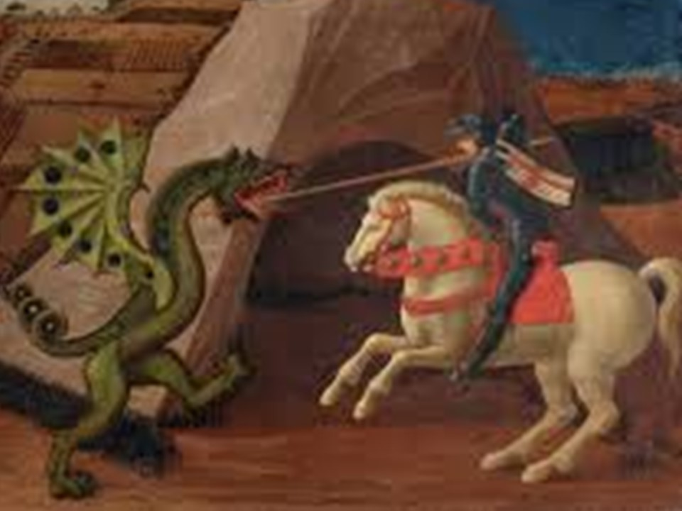 Saint george et le dragon Odis Odissée Chantaraud